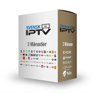 TV paket - 3 månader SvenskIPTV